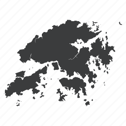 asian, chinese, country, hong, kong, map, navigation icon