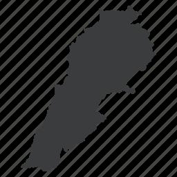 asian, country, lebanese, lebanon, location, map, navigation icon