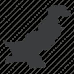 asian, country, gps, map, navigation, pakistan, pakistani icon