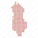 albania, albanian, country, map icon