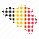 belgian, belgium, country, map icon