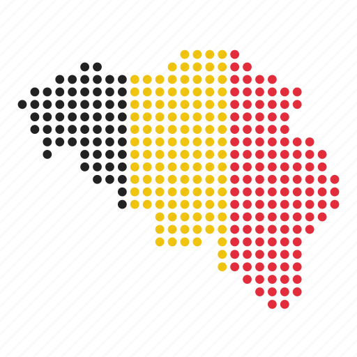 belgian, belgium, country, map icon