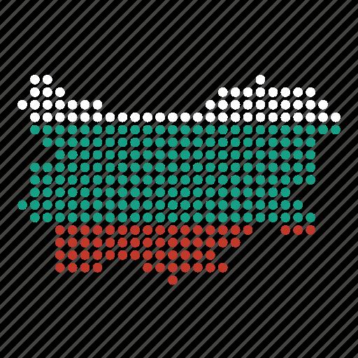 bulgaria, bulgarian, country, map icon