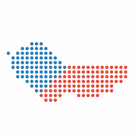country, czech, map, republic icon