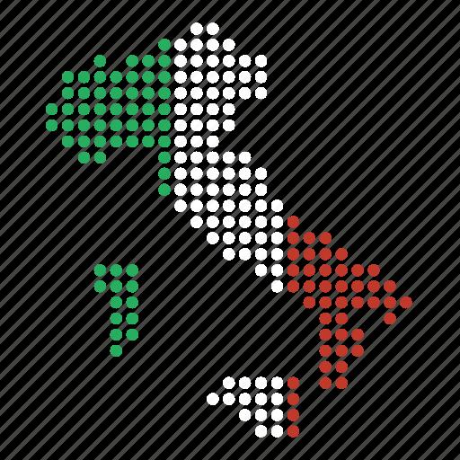 country, italian, italy, map icon