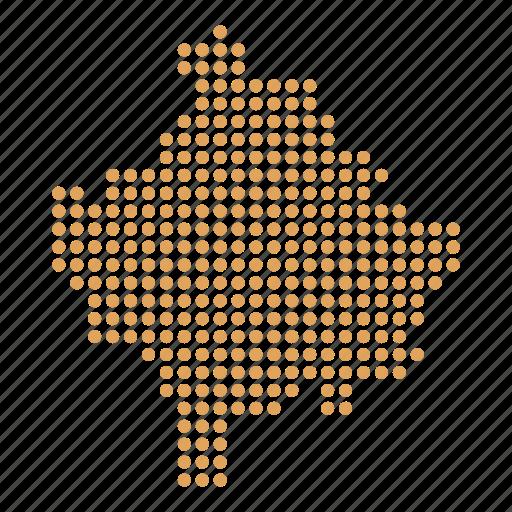 country, kosovan, kosovo, map icon