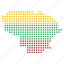 country, lithuania, map icon