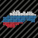 country, map, slovakia, slovakian icon