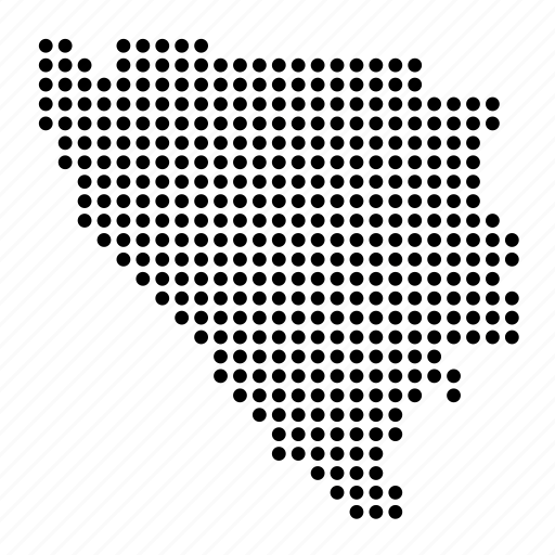 bosnia, country, herzegovina, map icon