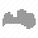 country, latvia, latvian, map icon