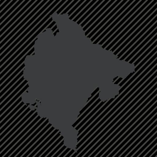 country, european, gps, location, map, montenegro, navigation icon