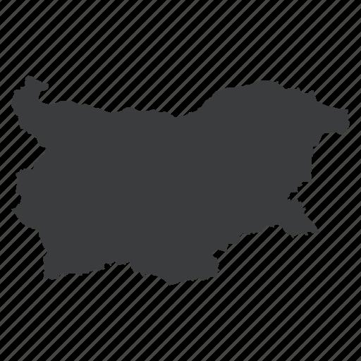bulgaria, bulgarian, country, european, location, map, navigation icon