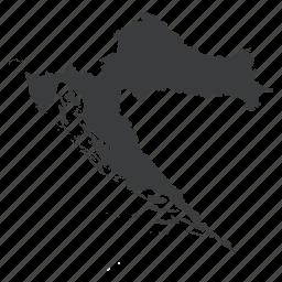 country, croatia, croatian, european, location, map, navigation icon