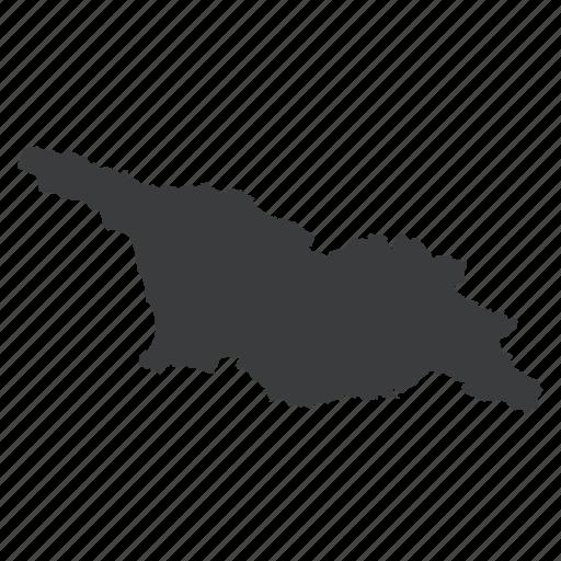 country, european, georgia, georgian, location, map, navigation icon