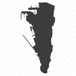 country, european, gibraltar, gps, location, map, navigation icon