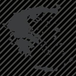 country, european, greece, greek, location, map, navigation icon