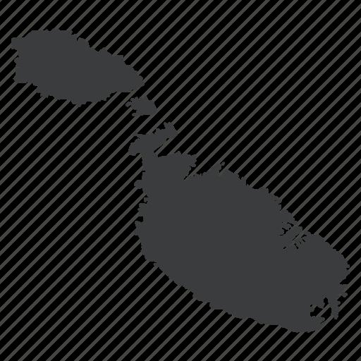 country, european, gps, location, malta, map, navigation icon