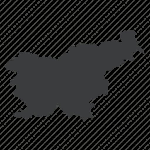 country, european, location, map, navigation, slovenia, slovenian icon