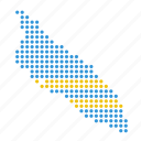 aruba, aruban, country, map icon