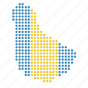 barbados, country, map icon