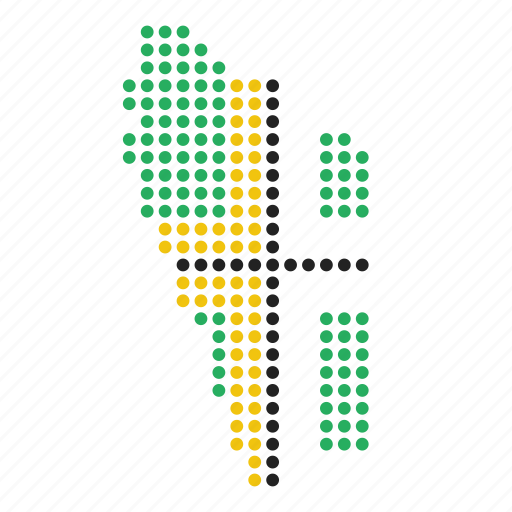country, dominica, map icon