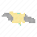 country, jamaica, jamaican, map icon