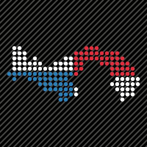 country, map, panama, panamanian icon