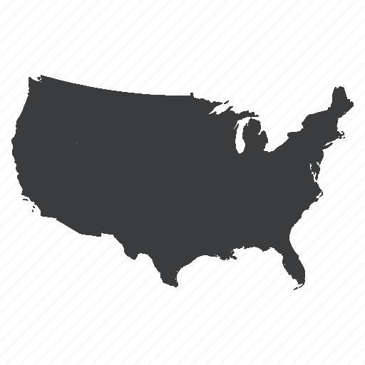 america, location, map, navigation, united states, us, usa icon