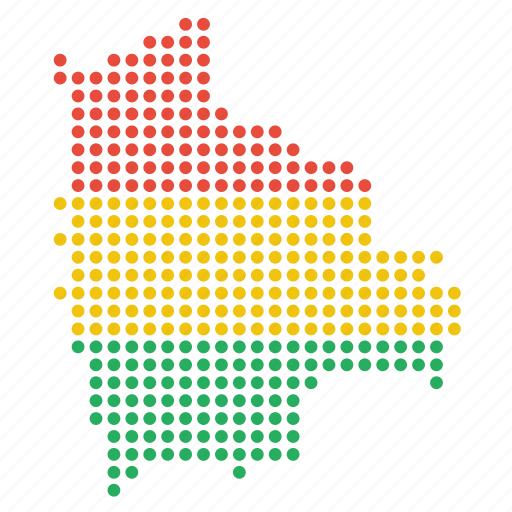 bolivia, bolivian, country, map icon
