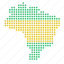 brazil, brazilian, country, map icon