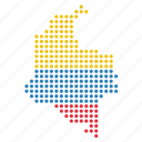 colombia, colombian, country, map icon
