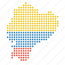 country, ecuador, ecuadorian, map icon