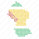 country, guyana, guyanese, map icon