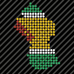 country, guyana, guyanese, map icon