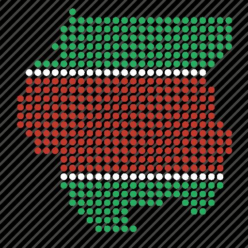 country, map, suriname, surinamese icon