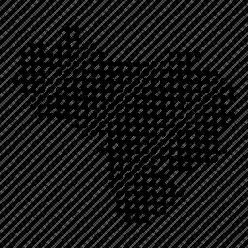 country, map, venezuela, venezuelan icon