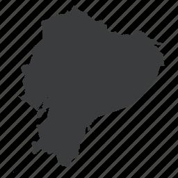 country, ecuador, gps, location, map, navigation, south american icon