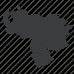 country, location, map, navigation, south american, venezuela, venezuelan icon