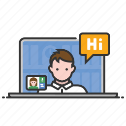 chat, conference, online meeting, video icon