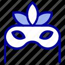 costume, mask, masquerade icon