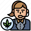 cannabis, consultant, drugs, healthcare, marijuana, medical, women icon