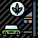 cannabis, car, drugs, marijuana, medical, online, store icon