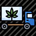 cannabis, car, drugs, healthcare, marijuana, medical, truck icon