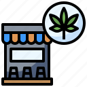 cannabis, drugs, healthcare, marijuana, medical, recreational, store icon