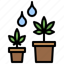 cannabis, drugs, healthcare, marijuana, medical, tree, vegetative icon