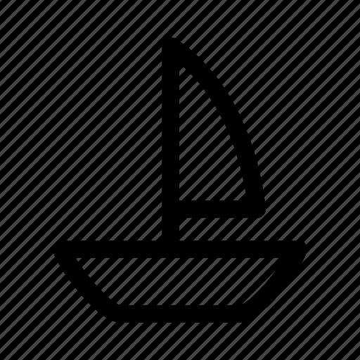 boat, marine, sail, sailboat, sailing, ship, transportation icon