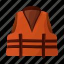 attributes, equipment, life jacket, marine, ship icon