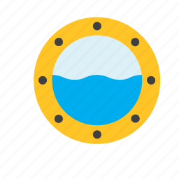 boat, marine, nautical, porthole, sea, ship, window icon