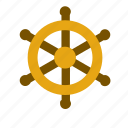 boat, helm, marine, nautical, rudder, sea, ship icon