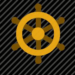 boat, helm, marine, nautical, rudder, sea, ship icon